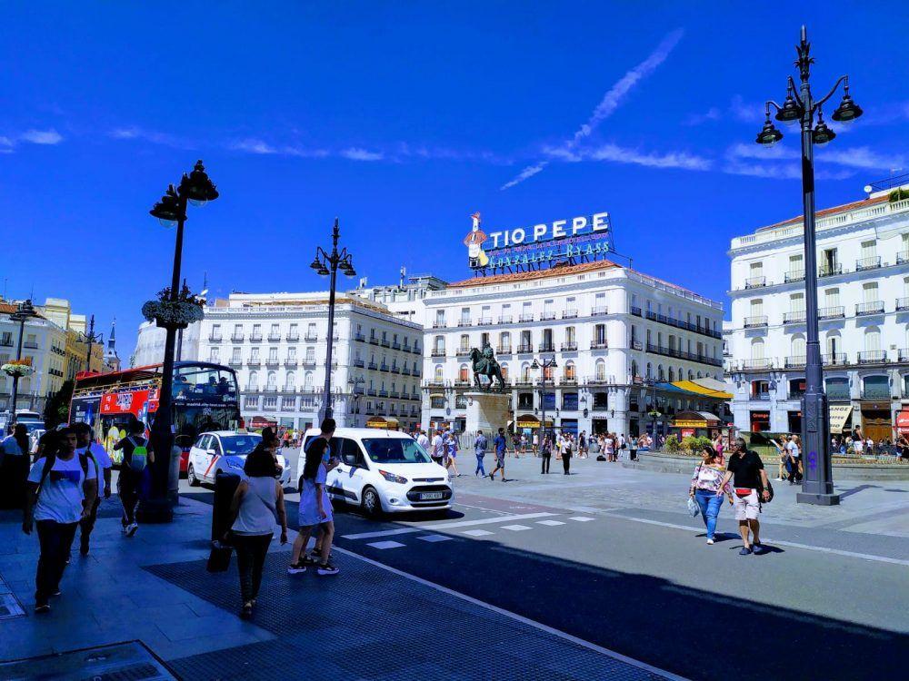 Vista de la Plaza Puerta del Sol