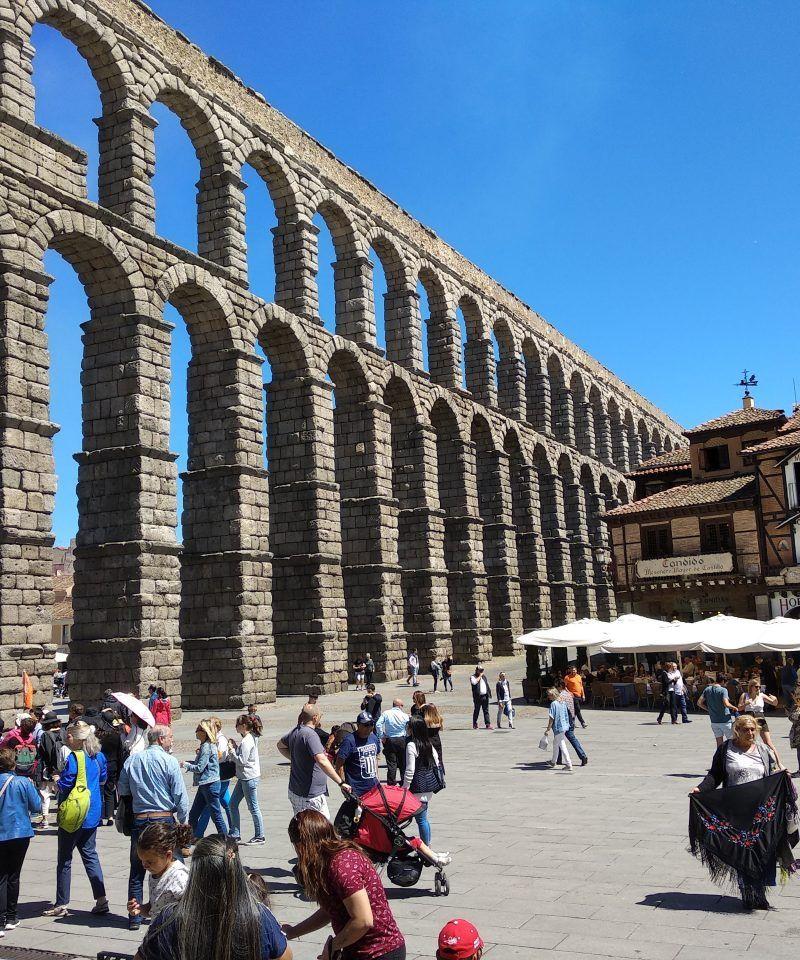 Vista Acueducto Romano de Segovia
